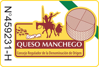 manchego cheese wedge label
